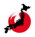 japan map concept vector image vector image
