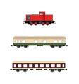 Locomotivewagons vector image vector image