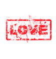love dirty grungy rubber stamp vector image vector image