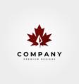 maple leaf icon logo with arrow head symbol design vector image vector image