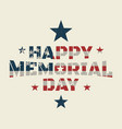 memorial day background or banner design vector image vector image