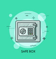 metallic safe box with closed door and buttons of vector image vector image