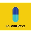 no antibiotics concept with capsule vector image