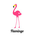 pink flamingo on a white background flamingo vector image