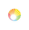 rainbow icon template vector image