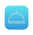 Restaurant cloche line icon vector image
