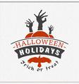 Retro Happy Halloween Badge Sticker Label Design vector image vector image