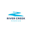 river creek logo icon vector image