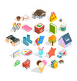 sale of label icons set isometric style vector image