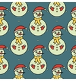 seamless pattern with snowmans vector image vector image