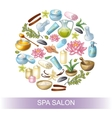 Spa Salon Round Composition vector image vector image