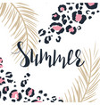 summer poster or t-shirt template with hand vector image
