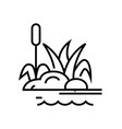 swamp plants line icon concept sign outline vector image vector image