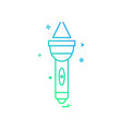 torch icon design vector image vector image