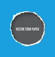 torn paper frame template vector image vector image