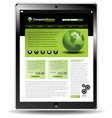 touch Pad Globe Web vector image vector image