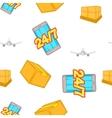 Transportation pattern cartoon style vector image vector image