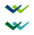 v letter check mark logo template design eps 10 vector image vector image
