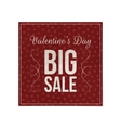 Valentines Day dark red Poster Template vector image