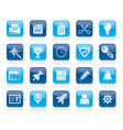 web site and internet interface icons vector image vector image