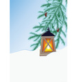 Winter fir and flashlight vector image vector image