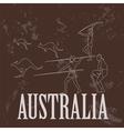 Australia landmarks Retro styled image vector image