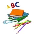 Various school properties - vector image