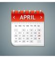 Calendar April Flat Design vector image