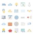 Seo and e-marketing flat icon set vector image