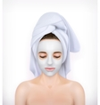 Young woman with face mask vector image