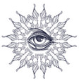 a magical eye surrounded by an abstract frame vector image vector image