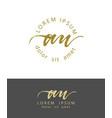 a u initials monogram logo design dry brush vector image vector image