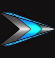 abstract blue neon light silver arrow speed