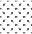Black white seamless pattern with eyes vector image vector image