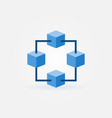 blockchain blue icon or design element vector image vector image