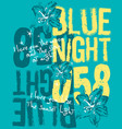 blue night vector image vector image