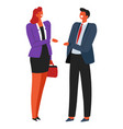 business people partners on meeting company vector image vector image