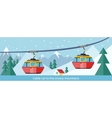 Cable Car to Snowy Mountains Design vector image