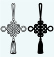 Chinese knot vector image vector image