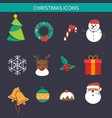 christmas icon sets vector image vector image
