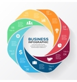 circle infographic Template for diagram business vector image