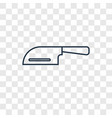 cleaver concept linear icon isolated on vector image