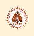 cocoa and hot chocolate logos modern vintage vector image vector image