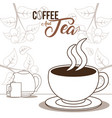 coffee and tea concept vector image