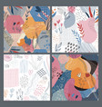 collection four colorful collage vector image