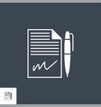 contract related glyph icon vector image vector image