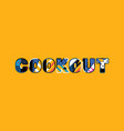 cookout concept word art vector image vector image