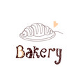 croissant bakery vector image vector image