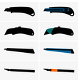 Cutter knives vector image vector image