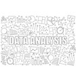 data analysis background from line icon vector image vector image